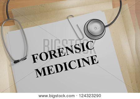 Forensic Medicine Concept