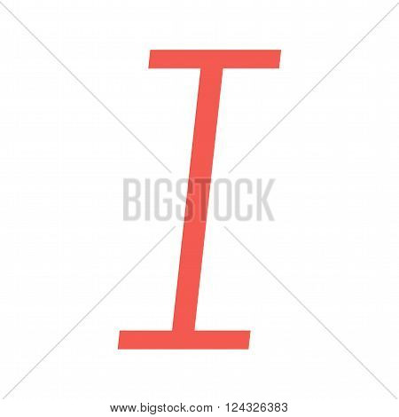 Letter, italic, text icon vector image. Can also be used for text editing. Suitable for use on web apps, mobile apps and print media.