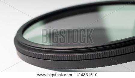 neutral density filter macro on white background