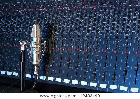 Radio station console