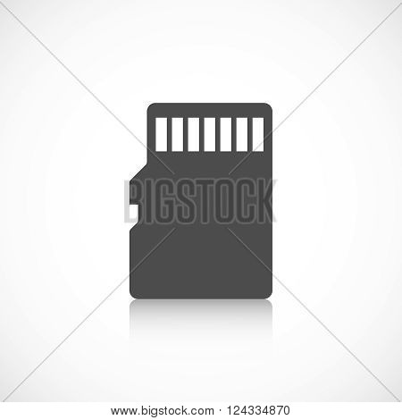 Micro sd card icon isolated on white background