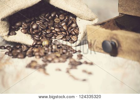 extreme closup of a lot of coffee beans