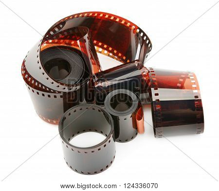 A photographic film isolated on white background