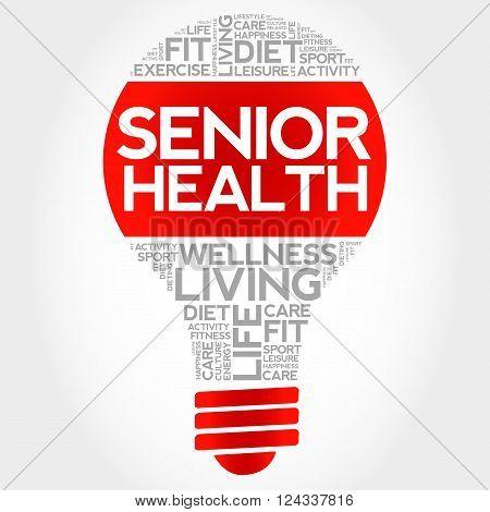 Senior Health Bulb Word Cloud