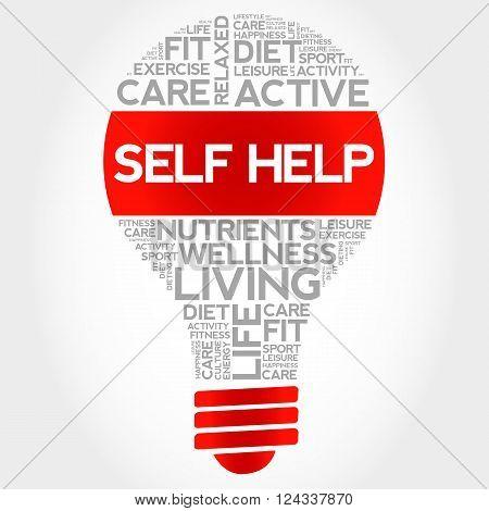 Self Help Bulb Word Cloud