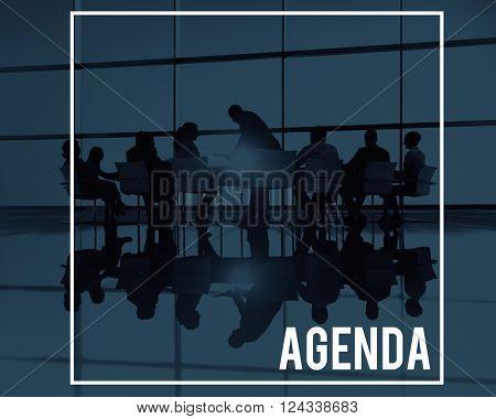 Agenda Plan Program Schedule Calendar Concept