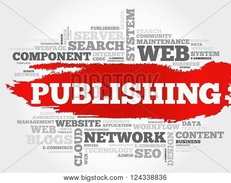 Publishing word cloud business concept, presentation background