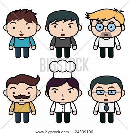 Cartoon character of men , Cartoon character of career