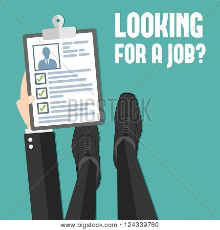Concept of job searching - vector illustration - isolated