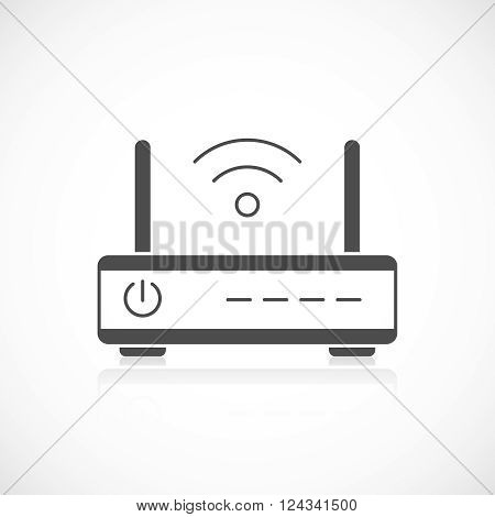 Wireless router icon isolated on white background