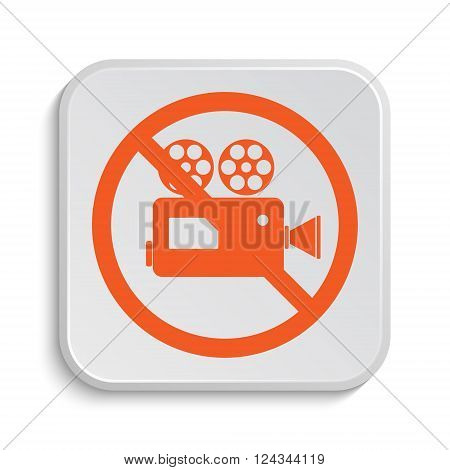 Forbidden camera icon. Internet button on white background.