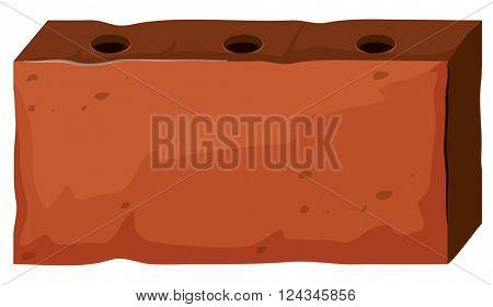 Brick with three holes illustration