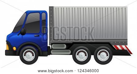 Lorry truck on white background illustration