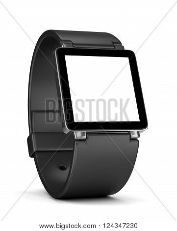 Smartwatch With White Blank Display