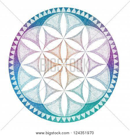 Drawing Mandala, Geometric, Graphically Ornament