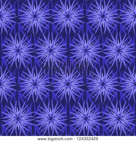 cornflowers flowers seamless pattern