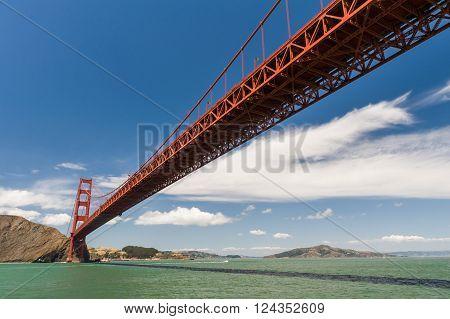 Low View Of Golden Gate Bridge