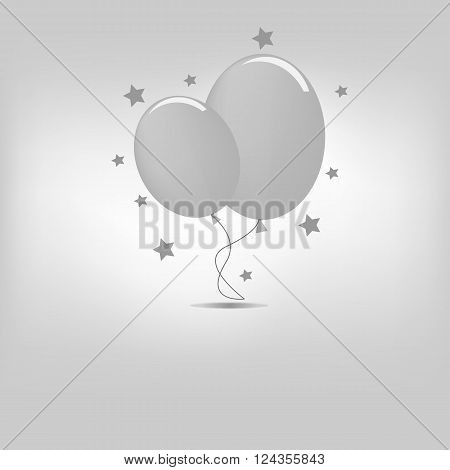 vector icon air sky baloon illustration isolated