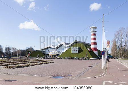 Den Haag, Netherlands, 27 march 2016: entrance of museum madurodam in the hague the netherlands