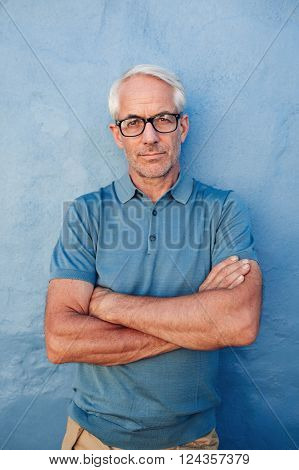 Caucasian Man Wearing Glasses Staring At Camera