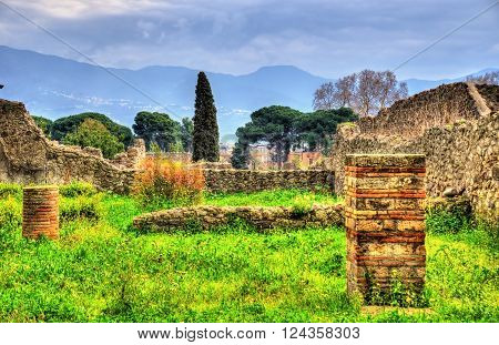 Ruins of ancient Pompeii, a UNESCO heritage site in Italy