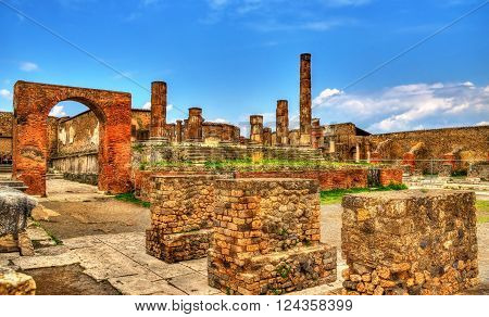 The Temple of Jupiter in Pompeii - Italy