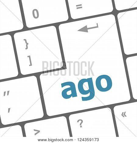 Ago Message On Enter Key Of Keyboard Keys