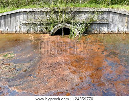 Sewage drainage system with very dirty poluted water