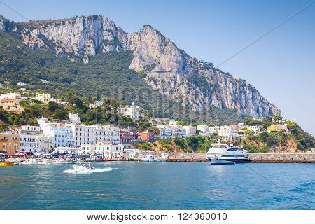 Port Of Capri Island In A Summer Day, Italy
