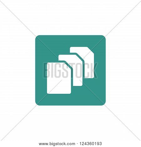 File Icon In Vector Format. Premium Quality File Icon. Web Graphic File Icon Sign On Green Backgroun