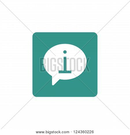 Info Icon In Vector Format. Premium Quality Info Icon. Web Graphic Info Icon Sign On Green Backgroun