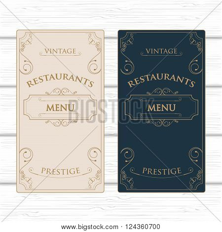 Vintage Ornament Restaurant  or Coffee Menu Template With Flourishes frame and Ornament