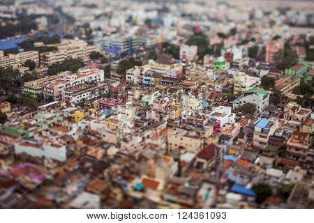 India Bird's eye view of Tiruchirappalli (tilt shift lens)