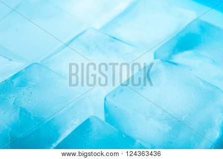 Ice cubes background horizontal  texture, close-up, piece, transparent,