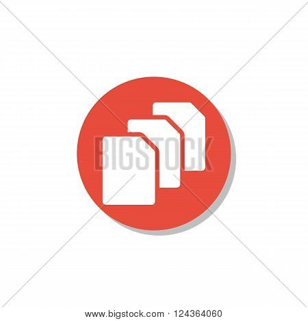 File Icon In Vector Format. Premium Quality File Icon. Web Graphic File Icon Sign On Red Circle Back