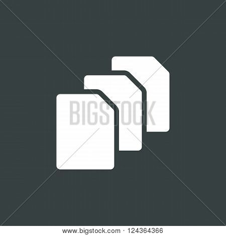 File Icon In Vector Format. Premium Quality File Icon. Web Graphic File Icon Sign On Dark Background