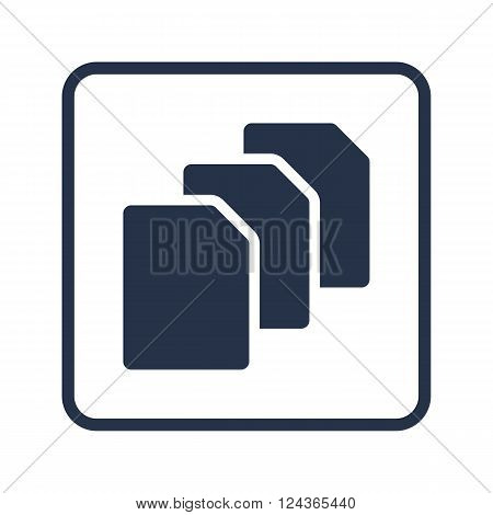 File Icon In Vector Format. Premium Quality File Icon. Web Graphic File Icon Sign On Blue Round Back