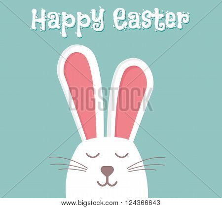 Easter rabbit easter Bunny vector illustration isolated