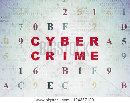 Protection concept: Cyber Crime on Digital Paper background
