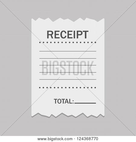 Blank receipt - vector illustration - isolated