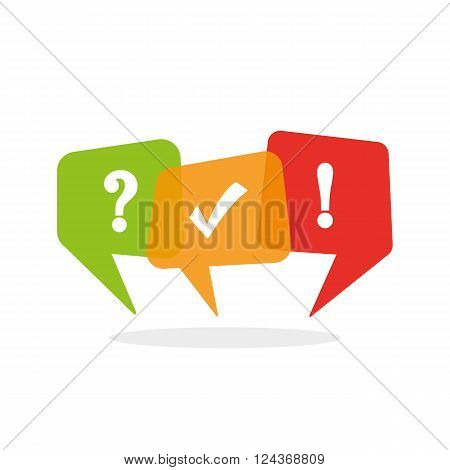 Quiz icon - vector illustration - isolated