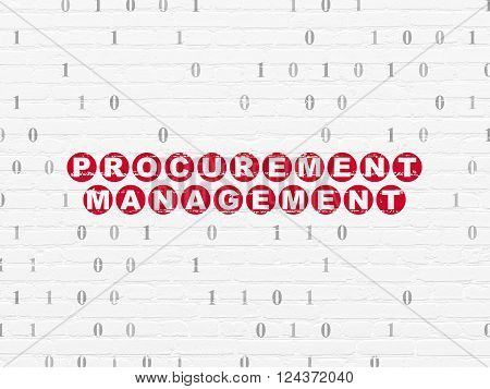Finance concept: Procurement Management on wall background