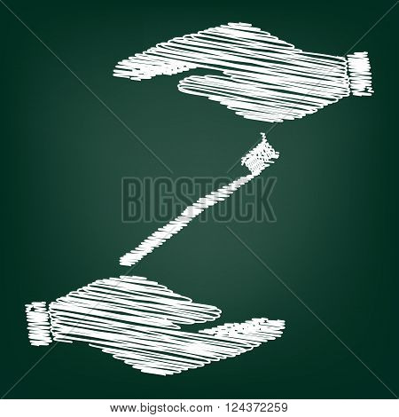 Toothbrush with applied toothpaste portion. Flat style icon with scribble effect