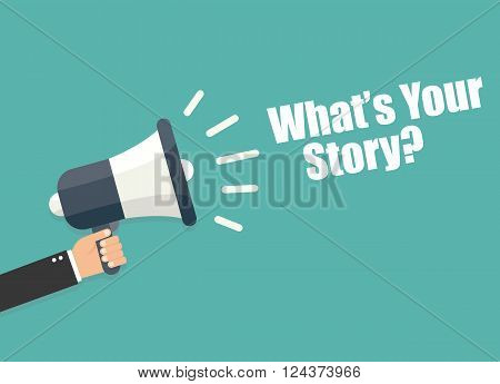 What's your story - vector illustration isolated