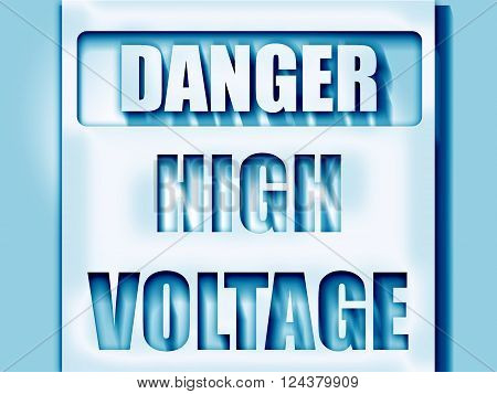 high voltage sign with some soft smooth lines