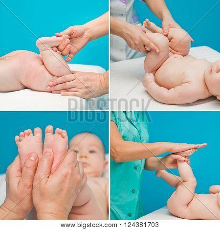 children relaxing massage from a professional masseur