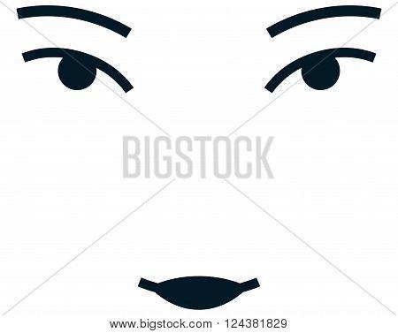 Asian girl woman female face vector illustration isolated