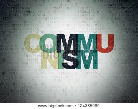 Politics concept: Communism on Digital Paper background