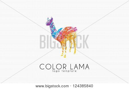 Lama logo. Color lama logo design. Creative logo