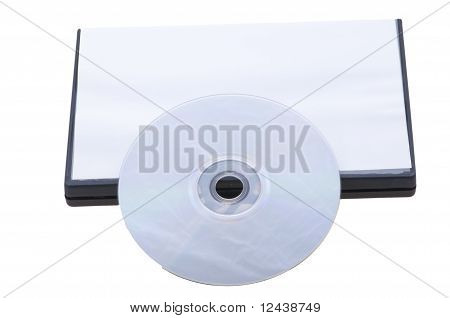 Closed dvd box with empty disc isolated